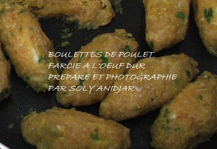 BOULETTES DE POULET FARCIES A L'OEUF DUR -15