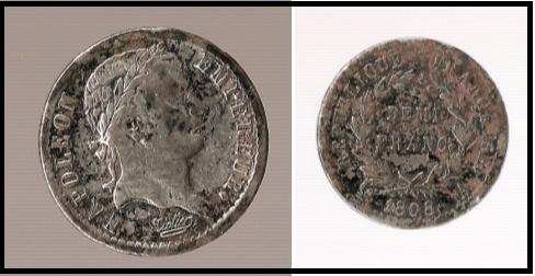 Medio franco de Napoleon (Paris, 1808) Franc_10