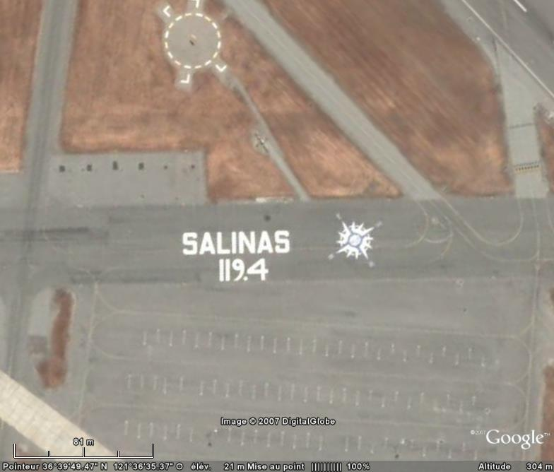 Ecriture, Aéroport municipal de Salinas, Californie - USA Aeropo10