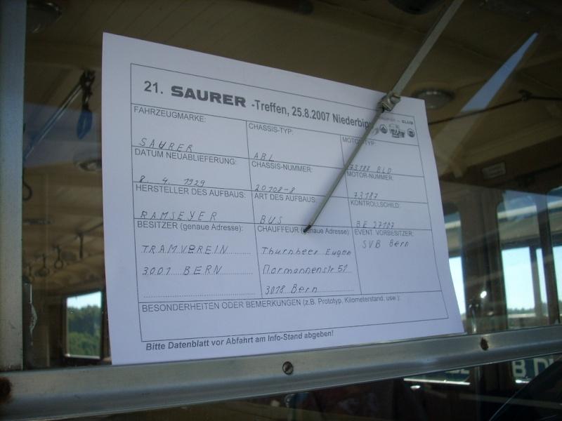 Les cars Saurer Nieder54