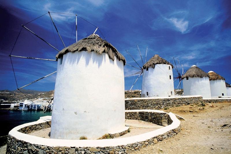 Moulins de Mykonos - Cyclades - Grèce Mykono10