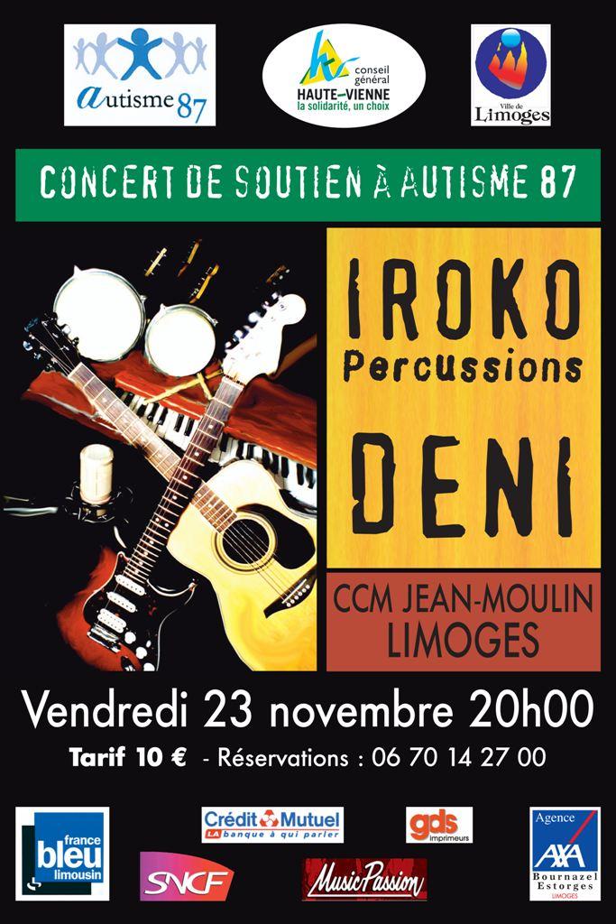 1 concert et 1 pièce au profit d'autisme 87 pour ses projets Affich10