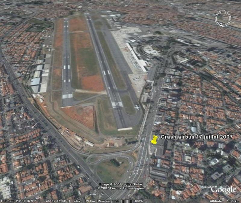 Accident airbus, aéroport de Congonhas, sao paulo, brésil Crash11