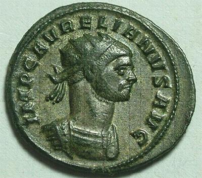 Patine verte des monnaies de cameleoncoins. Probus10