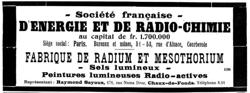Mesures radio-activité de montres vintages Radium11