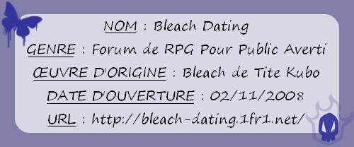 Bleach Dating. Hautfi10