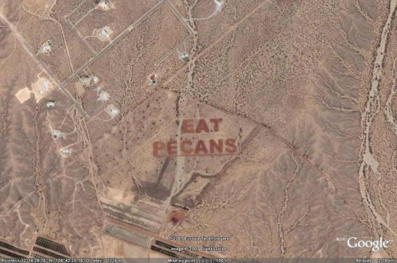 """Ecriture """"Eat Pecans"""", Las Cruces, Nouveau Mexique - USA Eat_pe10"""