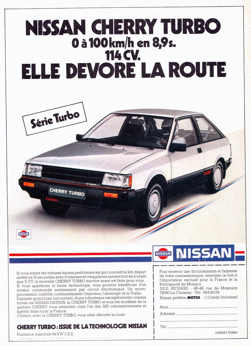 TOPIC OFFICIEL NISSAN CHERRY N12 et N12 TURBO! & N12 PUL Pub_ni10