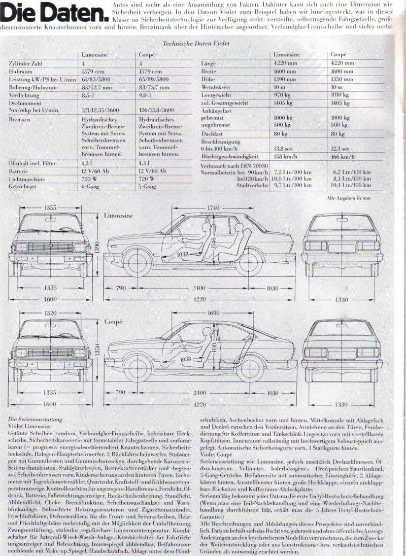 Topic officiel DATSUN VIOLET 140J & 160JSSS type LA10/PA10  Violet19