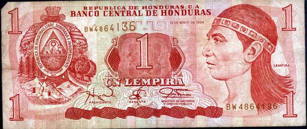 1 Lempira (Honduras, 1994) 1_lemp10