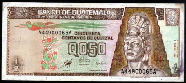 1 Quetzal (Guatemala, 1980) 50_cen10