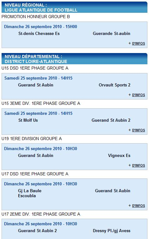 Résultats du Club 18 et 19-09-10 et Agenda du week end 25 et 26-09-10 Agenda10