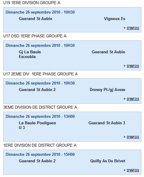 Résultats du Club 18 et 19-09-10 et Agenda du week end 25 et 26-09-10 Agenda11