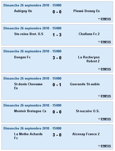 Senior A (PH) - St-denis Chevasse Es [0 - 1] Guérande St-aubin - 2e journée (26-09-10) Sag_se16