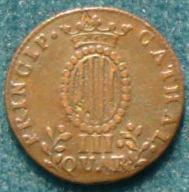 2 monedas de III Quartos de Fernando VII (1812 d.C) 901_a10
