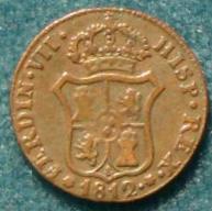 2 monedas de III Quartos de Fernando VII (1812 d.C) 901_r10
