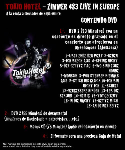 [DVD] Zimmer 483 Live on European tour 24910