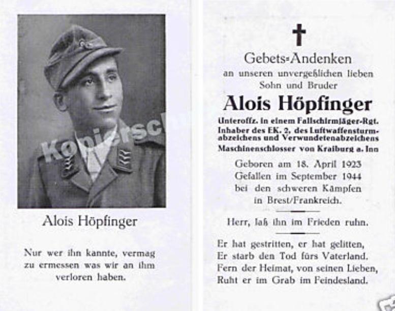 Sterbebild Fallschirmjäger... Hapfin10