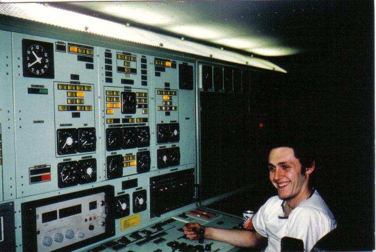 Mon pére à bord du F910 en 1977 Wielin10
