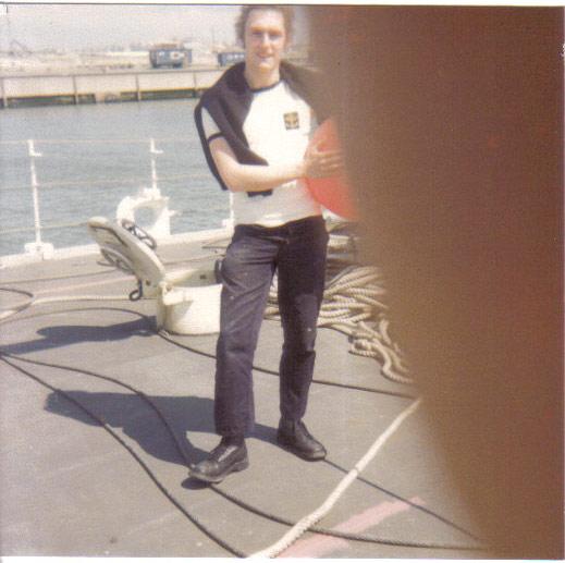Mon pére à bord du F910 en 1977 Wielin12