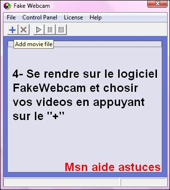 FakeWebcam = Une video a la place de votre cam Sans_t13