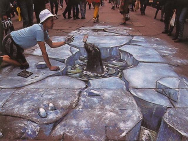 Dessins 3D sur le sol, Julian Beever Slide010