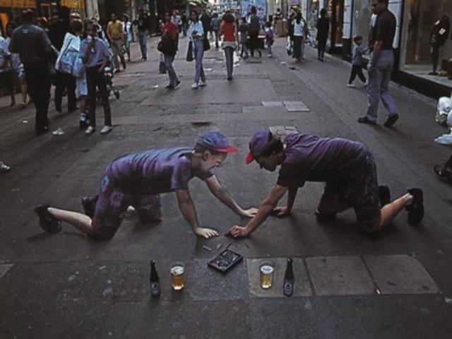 Dessins 3D sur le sol, Julian Beever Slide011