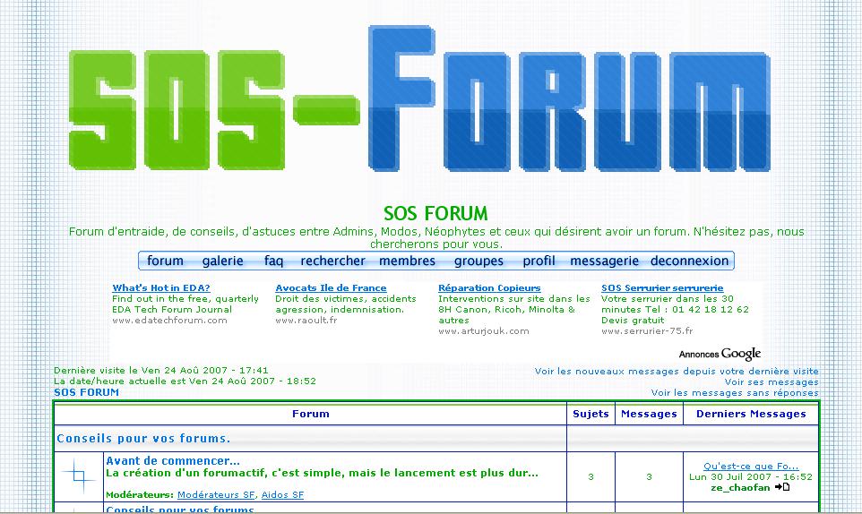 SOS Forum : Forum d'entraide Bannie10
