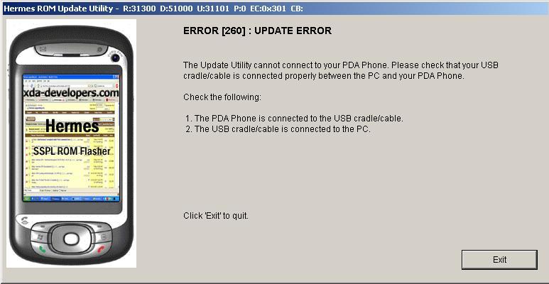 HTC HERALD ERROR [294] : invalide vender ID Error_11