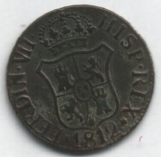 2 monedas de III Quartos de Fernando VII (1812 d.C) Iiiqua10