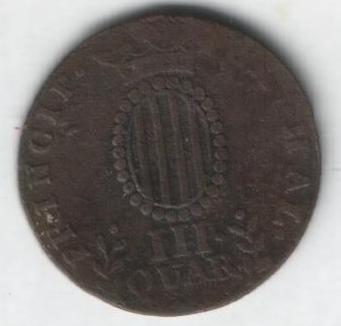 2 monedas de III Quartos de Fernando VII (1812 d.C) Iiiqua16