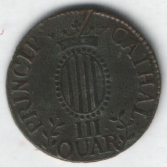 2 monedas de III Quartos de Fernando VII (1812 d.C) Iiiqua19