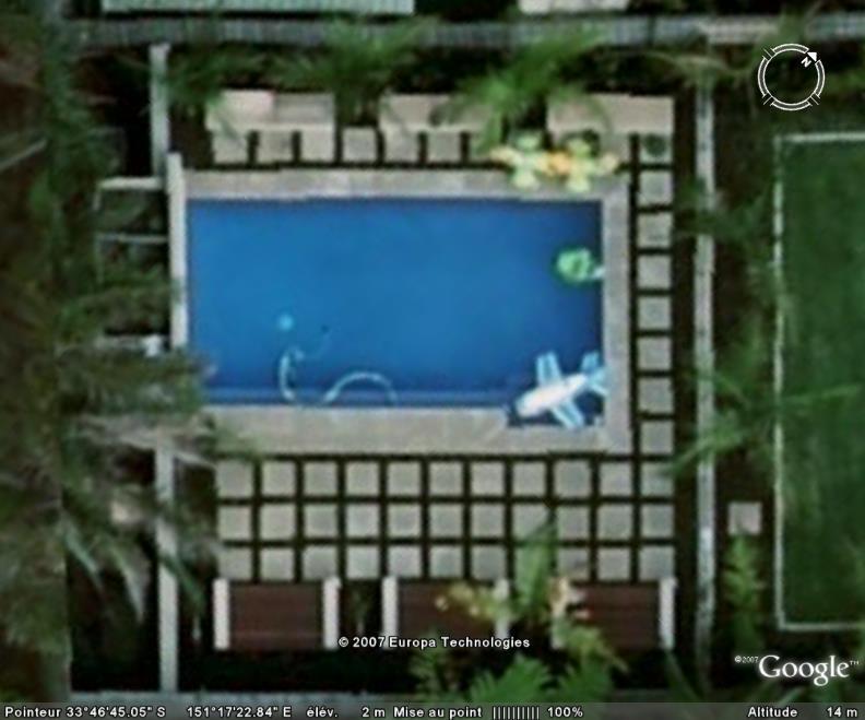 Un avion dans piscine, Brookvele, Sidney, Australie Avionp10