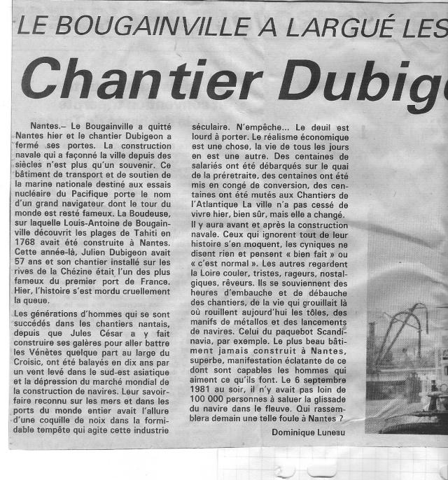 LES CHANTIERS DUBIGEON A NANTES - Page 2 Numeri31