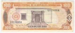 Billetes República Dominicana 100_pe10