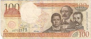 Billetes República Dominicana 100_pe12