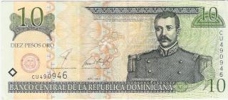Billetes República Dominicana 10_pes10