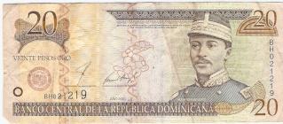 Billetes República Dominicana 20_pes12