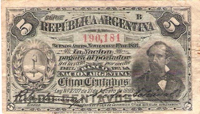 Argentina 1891 5_cent10