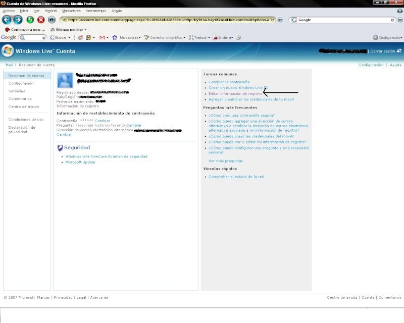 cambiar el nombre con el cual te registraste en hotmail Editar11