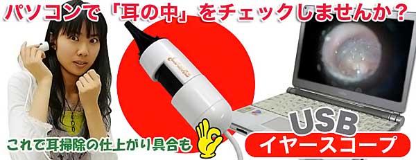 Une camera USB pour se filmer les oreilles Thanko10