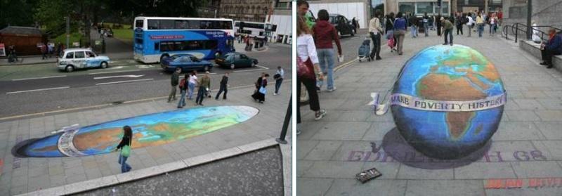 Dessins 3D sur le sol, Julian Beever Image210