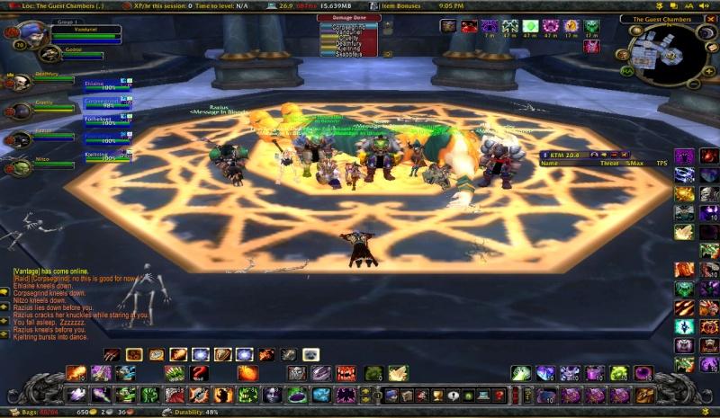 Some killshots of some bosses slain by the new raid grp Wowscr10