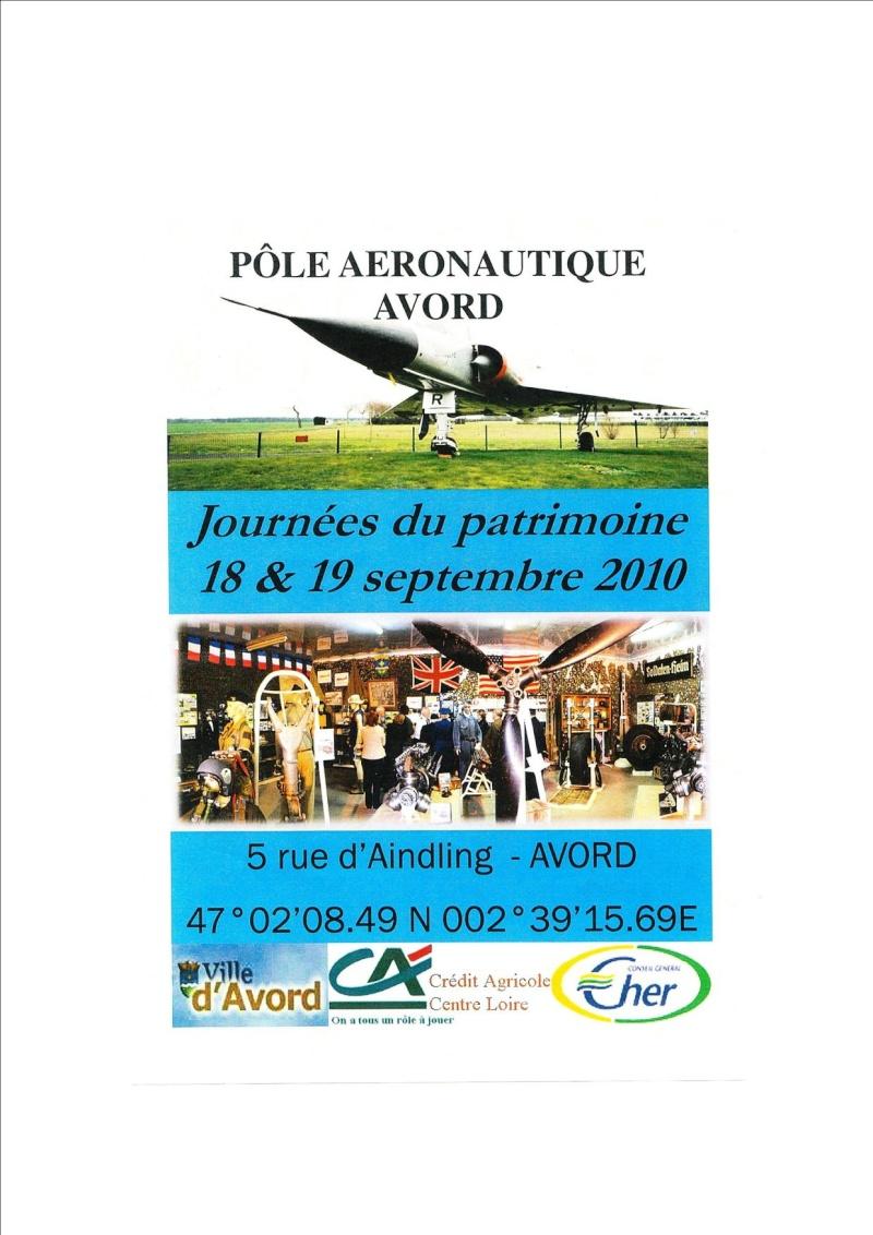 JOURNEES DU PATRIMOINE LE PÔLE AERONAUTIQUE D'AVORD Avord10