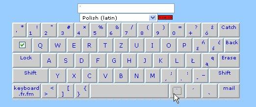 Claviers polonais en ligne et à télécharger ... Clavie16