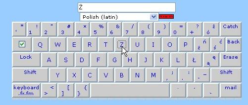 Claviers polonais en ligne et à télécharger ... Clavie17