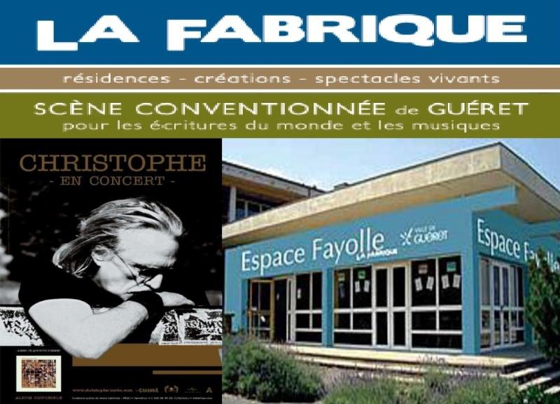 19/11/2011 Christophe en concert à La Fabrique, GUERET (23) (France) Doc810