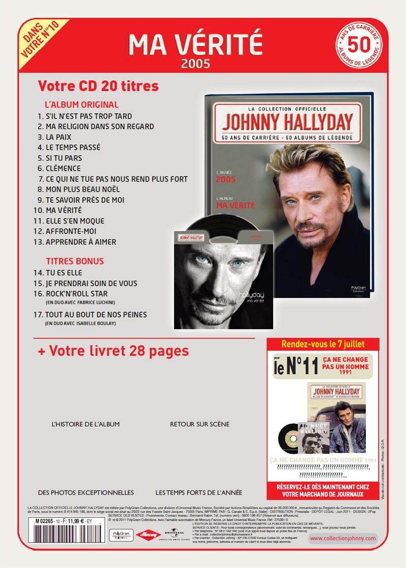 Le numéro 10: 2005 Ma Vérité Jhcoll42