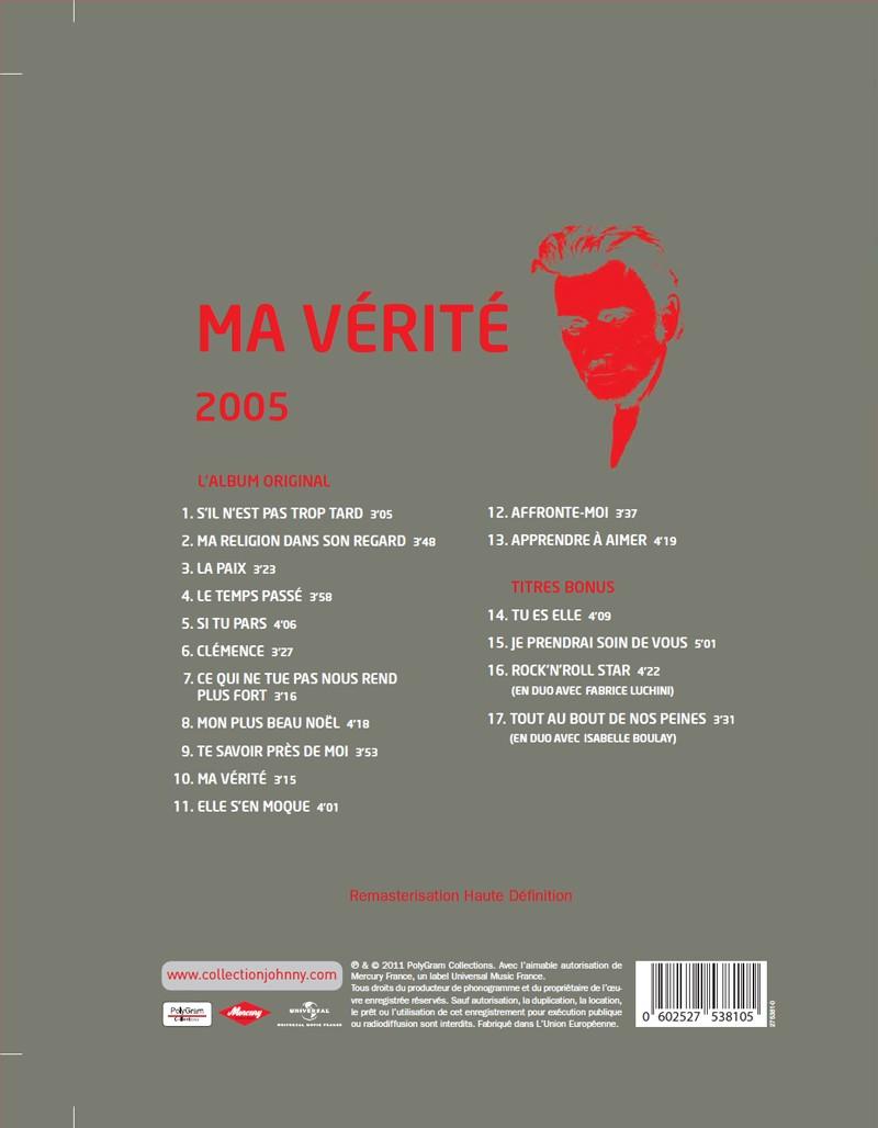 Le numéro 10: 2005 Ma Vérité Jhcoll44