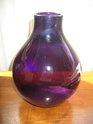 any ideas of maker please? (purple glass vase) 02411